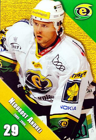 2005-06 Czech HC Energie Karlovy Vary #10 Andrej Nedorost<br/>1 In Stock - $3.00 each - <a href=https://centericecollectibles.foxycart.com/cart?name=2005-06%20Czech%20HC%20Energie%20Karlovy%20Vary%20%2310%20Andrej%20Nedorost...&quantity_max=1&price=$3.00&code=603871 class=foxycart> Buy it now! </a>
