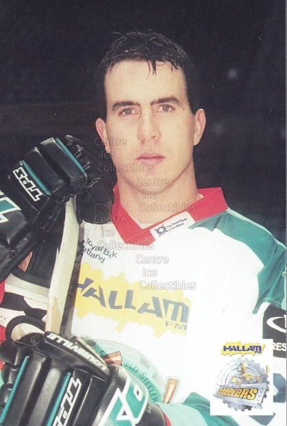 1999-00 UK British Elite Sheffield Steelers Postcards #11 Mark Matier<br/>1 In Stock - $3.00 each - <a href=https://centericecollectibles.foxycart.com/cart?name=1999-00%20UK%20British%20Elite%20Sheffield%20Steelers%20Postcards%20%2311%20Mark%20Matier...&quantity_max=1&price=$3.00&code=604437 class=foxycart> Buy it now! </a>