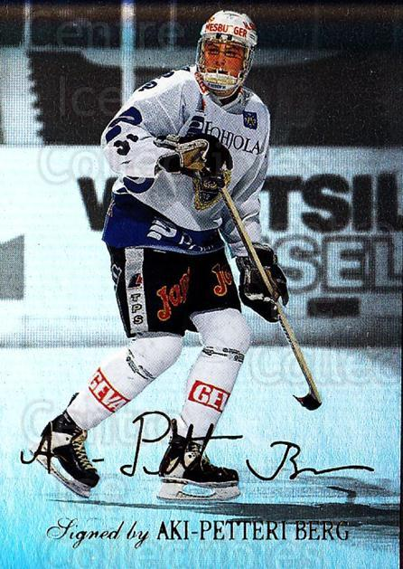 1995-96 Finnish Limited Signed and Sealed #4 Aki Berg<br/>1 In Stock - $5.00 each - <a href=https://centericecollectibles.foxycart.com/cart?name=1995-96%20Finnish%20Limited%20Signed%20and%20Sealed%20%234%20Aki%20Berg...&quantity_max=1&price=$5.00&code=604636 class=foxycart> Buy it now! </a>
