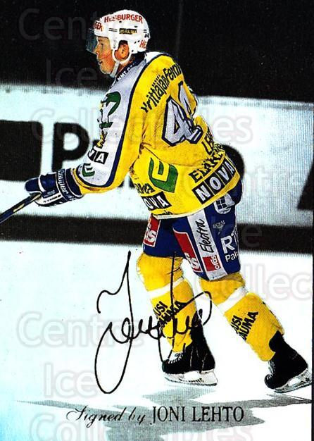 1995-96 Finnish Limited Signed and Sealed #5 Joni Lehto<br/>1 In Stock - $5.00 each - <a href=https://centericecollectibles.foxycart.com/cart?name=1995-96%20Finnish%20Limited%20Signed%20and%20Sealed%20%235%20Joni%20Lehto...&quantity_max=1&price=$5.00&code=604637 class=foxycart> Buy it now! </a>
