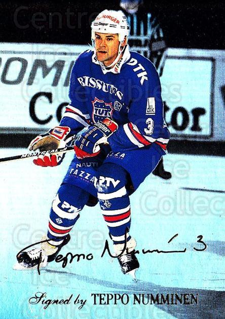 1995-96 Finnish Limited Signed and Sealed #6 Teppo Numminen<br/>1 In Stock - $5.00 each - <a href=https://centericecollectibles.foxycart.com/cart?name=1995-96%20Finnish%20Limited%20Signed%20and%20Sealed%20%236%20Teppo%20Numminen...&quantity_max=1&price=$5.00&code=604638 class=foxycart> Buy it now! </a>
