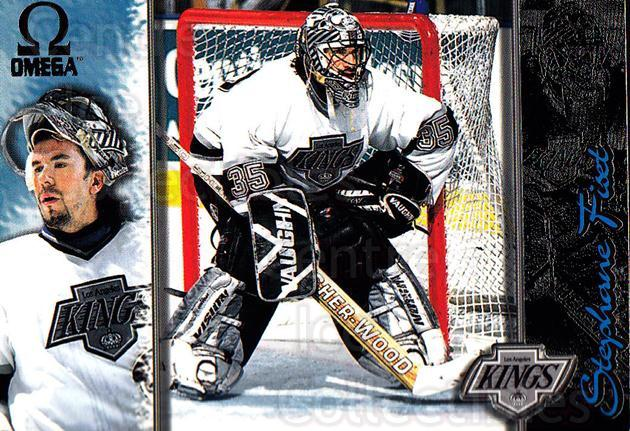 1997-98 Omega Dark Grey #107 Stephane Fiset<br/>2 In Stock - $2.00 each - <a href=https://centericecollectibles.foxycart.com/cart?name=1997-98%20Omega%20Dark%20Grey%20%23107%20Stephane%20Fiset...&quantity_max=2&price=$2.00&code=60465 class=foxycart> Buy it now! </a>