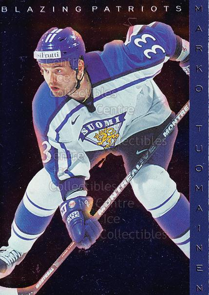 1999-00 Finnish Cardset Blazing Patriots #6 Marko Tuomainen<br/>2 In Stock - $3.00 each - <a href=https://centericecollectibles.foxycart.com/cart?name=1999-00%20Finnish%20Cardset%20Blazing%20Patriots%20%236%20Marko%20Tuomainen...&quantity_max=2&price=$3.00&code=604660 class=foxycart> Buy it now! </a>