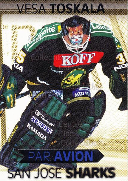 1999-00 Finnish Cardset Par Avion #10 Vesa Toskala<br/>6 In Stock - $3.00 each - <a href=https://centericecollectibles.foxycart.com/cart?name=1999-00%20Finnish%20Cardset%20Par%20Avion%20%2310%20Vesa%20Toskala...&quantity_max=6&price=$3.00&code=604669 class=foxycart> Buy it now! </a>