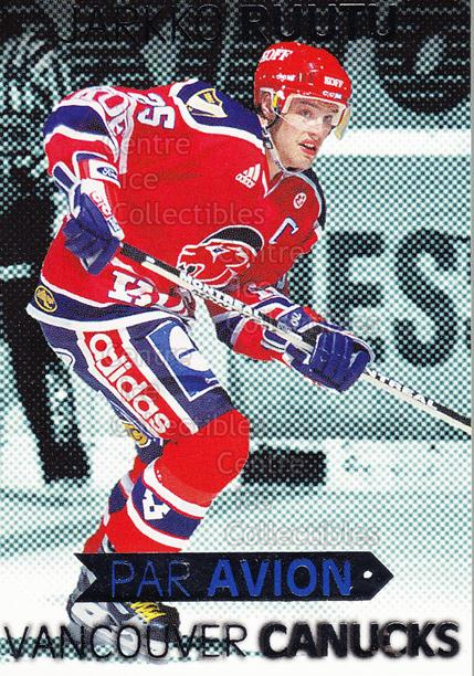 1999-00 Finnish Cardset Par Avion #12 Jarkko Ruutu<br/>5 In Stock - $3.00 each - <a href=https://centericecollectibles.foxycart.com/cart?name=1999-00%20Finnish%20Cardset%20Par%20Avion%20%2312%20Jarkko%20Ruutu...&quantity_max=5&price=$3.00&code=604671 class=foxycart> Buy it now! </a>