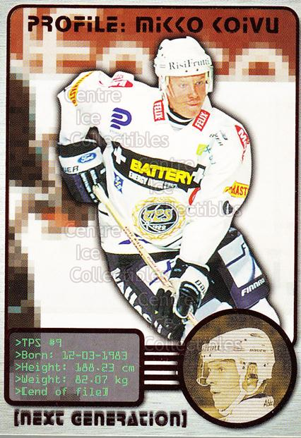 2000-01 Finnish Cardset Next Generation #1 Mikko Koivu<br/>6 In Stock - $3.00 each - <a href=https://centericecollectibles.foxycart.com/cart?name=2000-01%20Finnish%20Cardset%20Next%20Generation%20%231%20Mikko%20Koivu...&quantity_max=6&price=$3.00&code=604679 class=foxycart> Buy it now! </a>