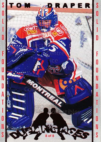 2001-02 Finnish Cardset Dueling Aces #8 Tom Draper, Jari Korpisalo<br/>1 In Stock - $3.00 each - <a href=https://centericecollectibles.foxycart.com/cart?name=2001-02%20Finnish%20Cardset%20Dueling%20Aces%20%238%20Tom%20Draper,%20Jar...&quantity_max=1&price=$3.00&code=604689 class=foxycart> Buy it now! </a>