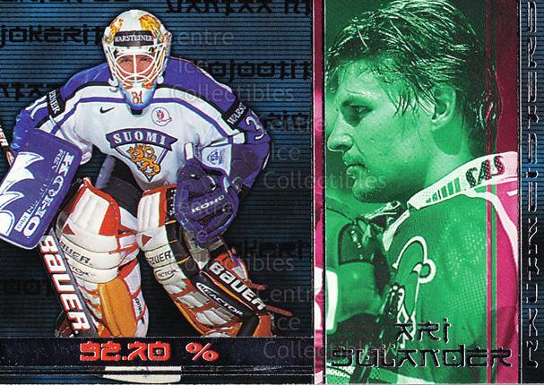 2001-02 Finnish Cardset Haltmeisters #7 Ari Sulander<br/>1 In Stock - $3.00 each - <a href=https://centericecollectibles.foxycart.com/cart?name=2001-02%20Finnish%20Cardset%20Haltmeisters%20%237%20Ari%20Sulander...&quantity_max=1&price=$3.00&code=604693 class=foxycart> Buy it now! </a>