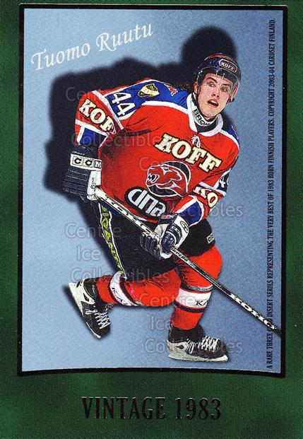 2003-04 Finnish Cardset Vintage #3 Tuomo Ruutu<br/>2 In Stock - $3.00 each - <a href=https://centericecollectibles.foxycart.com/cart?name=2003-04%20Finnish%20Cardset%20Vintage%20%233%20Tuomo%20Ruutu...&quantity_max=2&price=$3.00&code=604720 class=foxycart> Buy it now! </a>