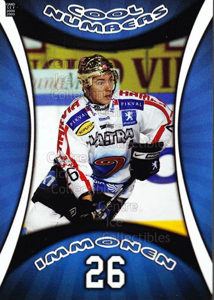 2008-09 Finnish Cardset Cool Numbers Blue #2 Jarkko Immonen<br/>7 In Stock - $3.00 each - <a href=https://centericecollectibles.foxycart.com/cart?name=2008-09%20Finnish%20Cardset%20Cool%20Numbers%20Blue%20%232%20Jarkko%20Immonen...&price=$3.00&code=604780 class=foxycart> Buy it now! </a>