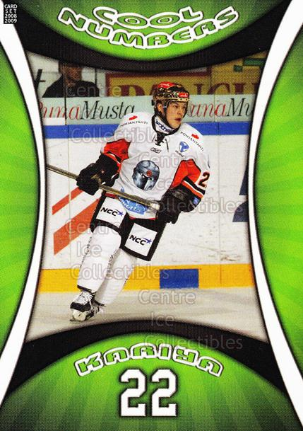 2008-09 Finnish Cardset Cool Numbers Green #2 Steve Kariya<br/>4 In Stock - $3.00 each - <a href=https://centericecollectibles.foxycart.com/cart?name=2008-09%20Finnish%20Cardset%20Cool%20Numbers%20Green%20%232%20Steve%20Kariya...&quantity_max=4&price=$3.00&code=604798 class=foxycart> Buy it now! </a>