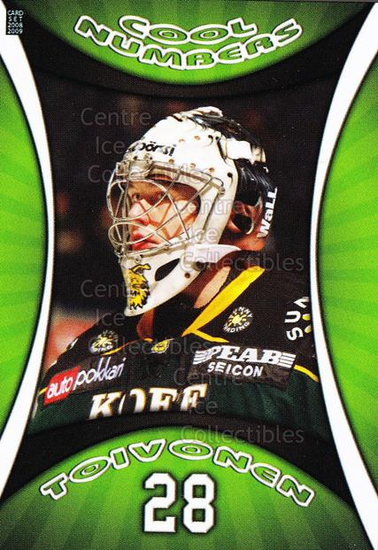 2008-09 Finnish Cardset Cool Numbers Green #6 Hannu Toivonen<br/>4 In Stock - $3.00 each - <a href=https://centericecollectibles.foxycart.com/cart?name=2008-09%20Finnish%20Cardset%20Cool%20Numbers%20Green%20%236%20Hannu%20Toivonen...&quantity_max=4&price=$3.00&code=604802 class=foxycart> Buy it now! </a>