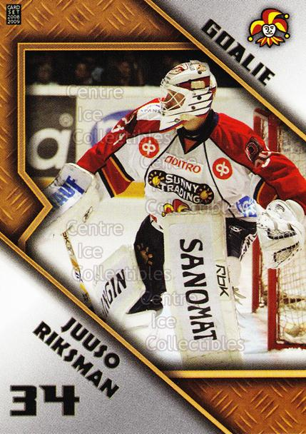 2008-09 Finnish Cardset Goalie Tandems #5 Juuso Riksman, Joonas Hallikainen<br/>3 In Stock - $3.00 each - <a href=https://centericecollectibles.foxycart.com/cart?name=2008-09%20Finnish%20Cardset%20Goalie%20Tandems%20%235%20Juuso%20Riksman,%20...&quantity_max=3&price=$3.00&code=604819 class=foxycart> Buy it now! </a>
