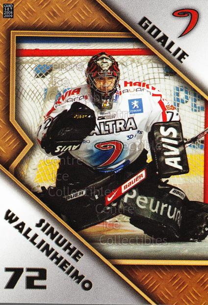 2008-09 Finnish Cardset Goalie Tandems #6 Sinuhe Wallinheimo, Pekka Tuokkola<br/>1 In Stock - $3.00 each - <a href=https://centericecollectibles.foxycart.com/cart?name=2008-09%20Finnish%20Cardset%20Goalie%20Tandems%20%236%20Sinuhe%20Wallinhe...&quantity_max=1&price=$3.00&code=604820 class=foxycart> Buy it now! </a>