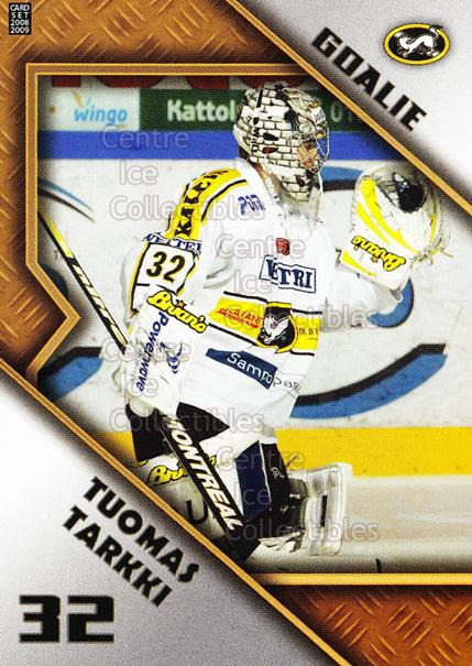 2008-09 Finnish Cardset Goalie Tandems #8 Tuomas Tarkki, Petri Koivisto<br/>5 In Stock - $3.00 each - <a href=https://centericecollectibles.foxycart.com/cart?name=2008-09%20Finnish%20Cardset%20Goalie%20Tandems%20%238%20Tuomas%20Tarkki,%20...&quantity_max=5&price=$3.00&code=604822 class=foxycart> Buy it now! </a>