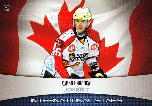 2008-09 Finnish Cardset International Stars #13 Quinn Hancock<br/>4 In Stock - $3.00 each - <a href=https://centericecollectibles.foxycart.com/cart?name=2008-09%20Finnish%20Cardset%20International%20Stars%20%2313%20Quinn%20Hancock...&price=$3.00&code=604841 class=foxycart> Buy it now! </a>