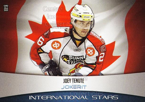 2008-09 Finnish Cardset International Stars #25 Joey Tenute<br/>4 In Stock - $3.00 each - <a href=https://centericecollectibles.foxycart.com/cart?name=2008-09%20Finnish%20Cardset%20International%20Stars%20%2325%20Joey%20Tenute...&price=$3.00&code=604853 class=foxycart> Buy it now! </a>