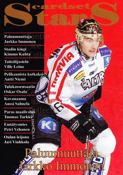 2008-09 Finnish Cardset Stars #1 Jarkko Immonen<br/>5 In Stock - $3.00 each - <a href=https://centericecollectibles.foxycart.com/cart?name=2008-09%20Finnish%20Cardset%20Stars%20%231%20Jarkko%20Immonen...&price=$3.00&code=604855 class=foxycart> Buy it now! </a>
