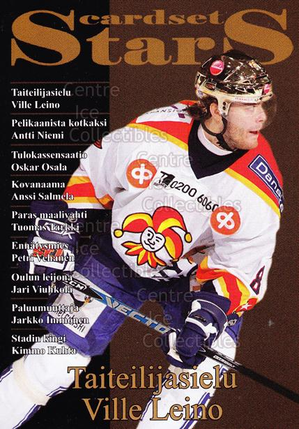 2008-09 Finnish Cardset Stars #3 Ville Leino<br/>7 In Stock - $3.00 each - <a href=https://centericecollectibles.foxycart.com/cart?name=2008-09%20Finnish%20Cardset%20Stars%20%233%20Ville%20Leino...&quantity_max=7&price=$3.00&code=604857 class=foxycart> Buy it now! </a>