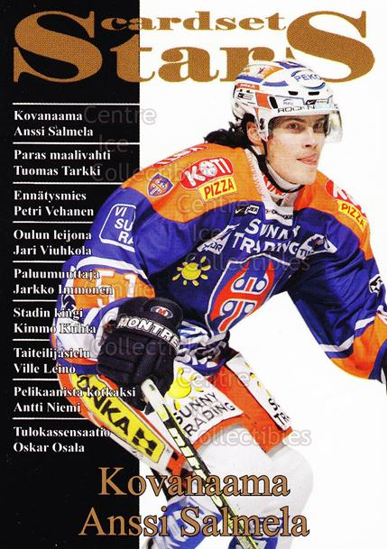 2008-09 Finnish Cardset Stars #6 Anssi Salmela<br/>6 In Stock - $3.00 each - <a href=https://centericecollectibles.foxycart.com/cart?name=2008-09%20Finnish%20Cardset%20Stars%20%236%20Anssi%20Salmela...&quantity_max=6&price=$3.00&code=604860 class=foxycart> Buy it now! </a>