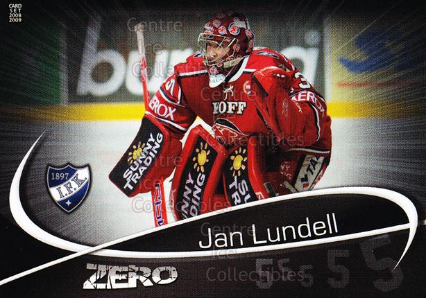 2008-09 Finnish Cardset Zero #3 Jan Lundell<br/>9 In Stock - $3.00 each - <a href=https://centericecollectibles.foxycart.com/cart?name=2008-09%20Finnish%20Cardset%20Zero%20%233%20Jan%20Lundell...&quantity_max=9&price=$3.00&code=604866 class=foxycart> Buy it now! </a>