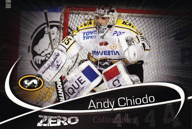 2008-09 Finnish Cardset Zero #5 Andy Chiodo<br/>7 In Stock - $3.00 each - <a href=https://centericecollectibles.foxycart.com/cart?name=2008-09%20Finnish%20Cardset%20Zero%20%235%20Andy%20Chiodo...&quantity_max=7&price=$3.00&code=604868 class=foxycart> Buy it now! </a>