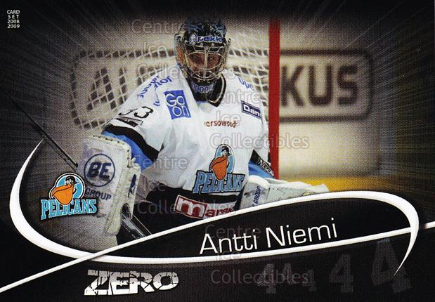 2008-09 Finnish Cardset Zero #6 Antti Niemi<br/>11 In Stock - $3.00 each - <a href=https://centericecollectibles.foxycart.com/cart?name=2008-09%20Finnish%20Cardset%20Zero%20%236%20Antti%20Niemi...&quantity_max=11&price=$3.00&code=604869 class=foxycart> Buy it now! </a>