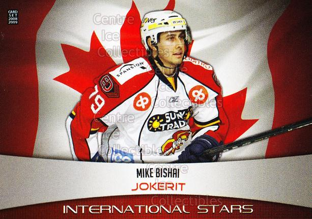 2008-09 Finnish Cardset International Stars Silver #4 Mike Bishai<br/>1 In Stock - $5.00 each - <a href=https://centericecollectibles.foxycart.com/cart?name=2008-09%20Finnish%20Cardset%20International%20Stars%20Silver%20%234%20Mike%20Bishai...&price=$5.00&code=604957 class=foxycart> Buy it now! </a>