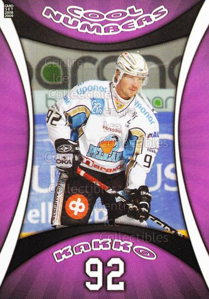 2008-09 Finnish Cardset Cool Numbers Purple #18 Erik Kakko<br/>1 In Stock - $5.00 each - <a href=https://centericecollectibles.foxycart.com/cart?name=2008-09%20Finnish%20Cardset%20Cool%20Numbers%20Purple%20%2318%20Erik%20Kakko...&quantity_max=1&price=$5.00&code=605015 class=foxycart> Buy it now! </a>