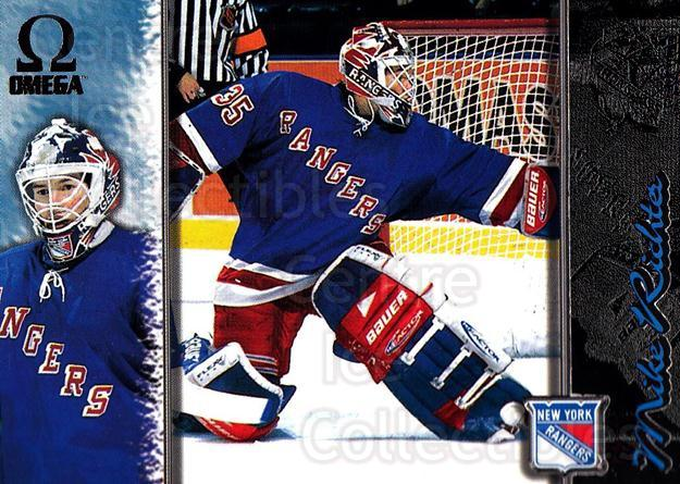 1997-98 Omega Dark Grey #148 Mike Richter<br/>1 In Stock - $2.00 each - <a href=https://centericecollectibles.foxycart.com/cart?name=1997-98%20Omega%20Dark%20Grey%20%23148%20Mike%20Richter...&quantity_max=1&price=$2.00&code=60506 class=foxycart> Buy it now! </a>