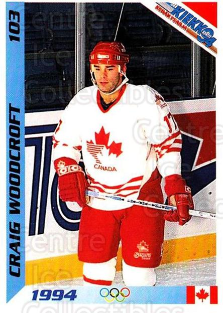 1994 Finnish Jaa Kiekko #103 Craig Woodcroft<br/>1 In Stock - $2.00 each - <a href=https://centericecollectibles.foxycart.com/cart?name=1994%20Finnish%20Jaa%20Kiekko%20%23103%20Craig%20Woodcroft...&quantity_max=1&price=$2.00&code=605389 class=foxycart> Buy it now! </a>