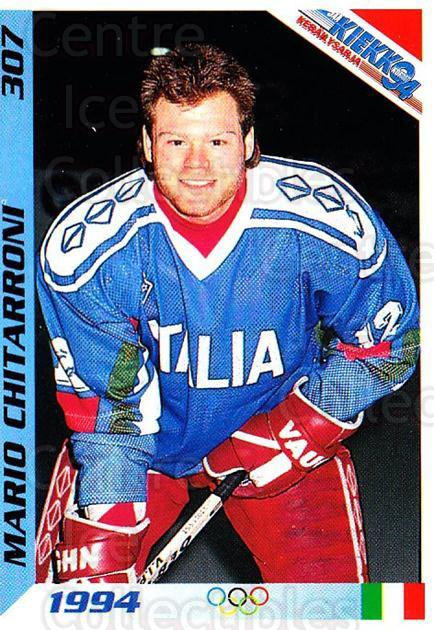 1994 Finnish Jaa Kiekko #307 Mario Chitarroni<br/>1 In Stock - $2.00 each - <a href=https://centericecollectibles.foxycart.com/cart?name=1994%20Finnish%20Jaa%20Kiekko%20%23307%20Mario%20Chitarron...&quantity_max=1&price=$2.00&code=605417 class=foxycart> Buy it now! </a>