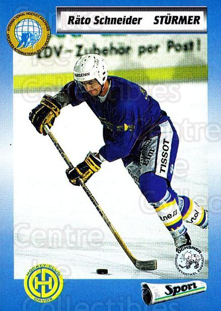 1993-94 Swiss HNL #231 Rato Schneider<br/>7 In Stock - $2.00 each - <a href=https://centericecollectibles.foxycart.com/cart?name=1993-94%20Swiss%20HNL%20%23231%20Rato%20Schneider...&price=$2.00&code=605825 class=foxycart> Buy it now! </a>