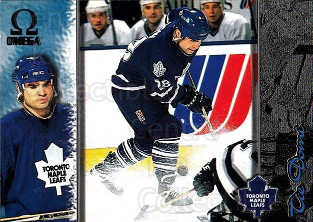 1997-98 Omega Dark Grey #220 Tie Domi<br/>4 In Stock - $2.00 each - <a href=https://centericecollectibles.foxycart.com/cart?name=1997-98%20Omega%20Dark%20Grey%20%23220%20Tie%20Domi...&quantity_max=4&price=$2.00&code=60584 class=foxycart> Buy it now! </a>