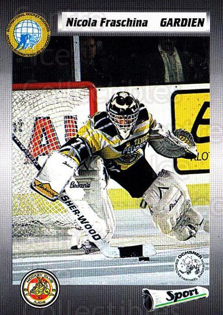 1993-94 Swiss HNL #264 Nicola Fraschina<br/>5 In Stock - $2.00 each - <a href=https://centericecollectibles.foxycart.com/cart?name=1993-94%20Swiss%20HNL%20%23264%20Nicola%20Fraschin...&price=$2.00&code=605858 class=foxycart> Buy it now! </a>