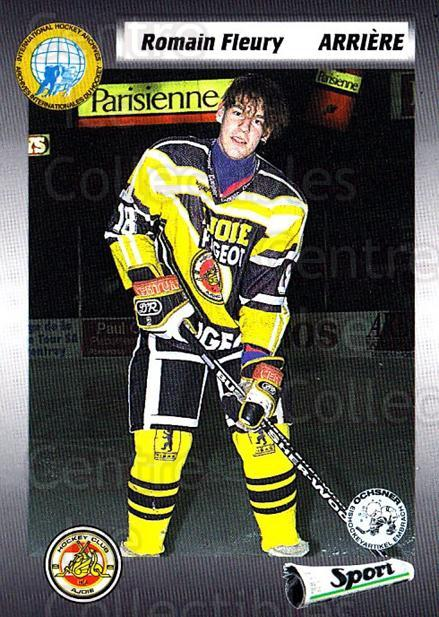 1993-94 Swiss HNL #268 Romain Fleury<br/>2 In Stock - $2.00 each - <a href=https://centericecollectibles.foxycart.com/cart?name=1993-94%20Swiss%20HNL%20%23268%20Romain%20Fleury...&quantity_max=2&price=$2.00&code=605862 class=foxycart> Buy it now! </a>