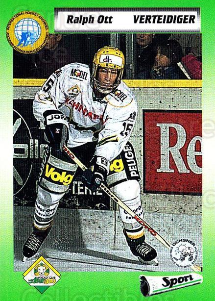 1993-94 Swiss HNL #443 Ralph Ott<br/>4 In Stock - $2.00 each - <a href=https://centericecollectibles.foxycart.com/cart?name=1993-94%20Swiss%20HNL%20%23443%20Ralph%20Ott...&quantity_max=4&price=$2.00&code=606037 class=foxycart> Buy it now! </a>