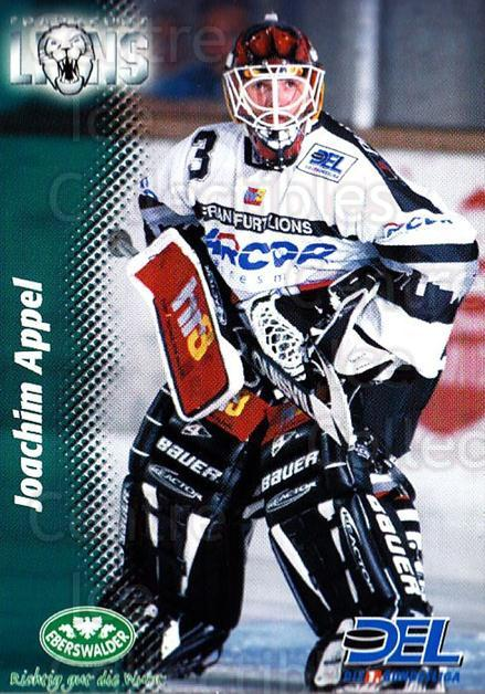 1999-00 German DEL #77 Joachim Appel<br/>6 In Stock - $2.00 each - <a href=https://centericecollectibles.foxycart.com/cart?name=1999-00%20German%20DEL%20%2377%20Joachim%20Appel...&quantity_max=6&price=$2.00&code=606286 class=foxycart> Buy it now! </a>