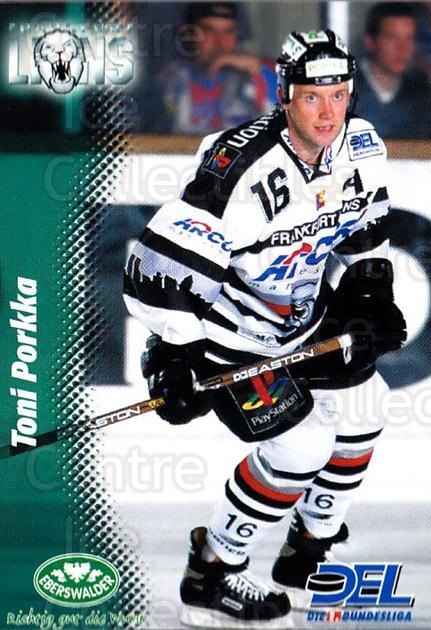 1999-00 German DEL #84 Toni Porkka<br/>4 In Stock - $2.00 each - <a href=https://centericecollectibles.foxycart.com/cart?name=1999-00%20German%20DEL%20%2384%20Toni%20Porkka...&quantity_max=4&price=$2.00&code=606287 class=foxycart> Buy it now! </a>