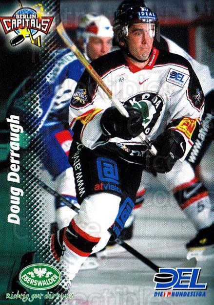 1999-00 German DEL #277 Doug Derraugh<br/>6 In Stock - $2.00 each - <a href=https://centericecollectibles.foxycart.com/cart?name=1999-00%20German%20DEL%20%23277%20Doug%20Derraugh...&price=$2.00&code=606296 class=foxycart> Buy it now! </a>