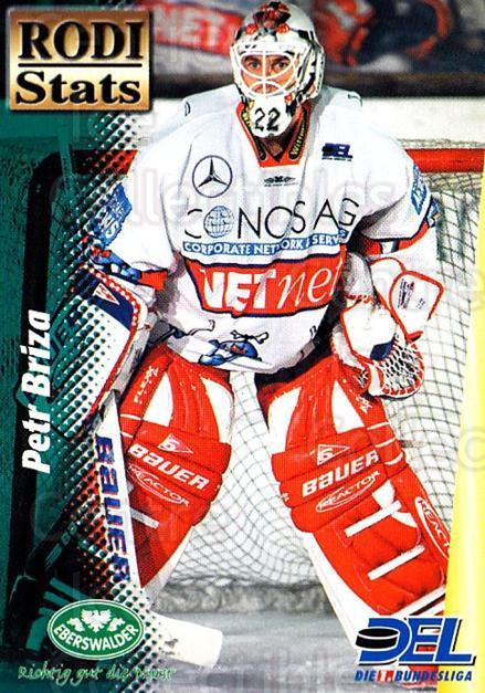 1999-00 German DEL Rodi Stats #9 Petr Briza<br/>16 In Stock - $3.00 each - <a href=https://centericecollectibles.foxycart.com/cart?name=1999-00%20German%20DEL%20Rodi%20Stats%20%239%20Petr%20Briza...&quantity_max=16&price=$3.00&code=606347 class=foxycart> Buy it now! </a>
