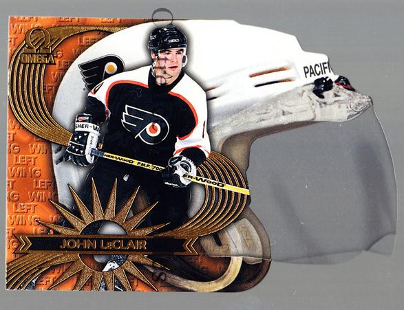 1997-98 Omega Game Face #12 John LeClair<br/>2 In Stock - $5.00 each - <a href=https://centericecollectibles.foxycart.com/cart?name=1997-98%20Omega%20Game%20Face%20%2312%20John%20LeClair...&quantity_max=2&price=$5.00&code=60758 class=foxycart> Buy it now! </a>