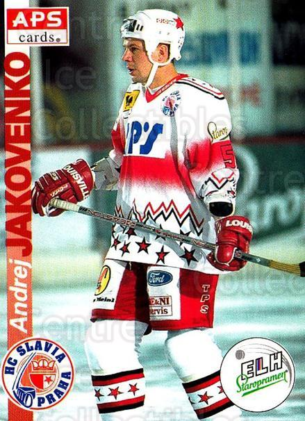 1996-97 Czech APS Extraliga #9 Andrei Jakovenko<br/>1 In Stock - $2.00 each - <a href=https://centericecollectibles.foxycart.com/cart?name=1996-97%20Czech%20APS%20Extraliga%20%239%20Andrei%20Jakovenk...&quantity_max=1&price=$2.00&code=608201 class=foxycart> Buy it now! </a>