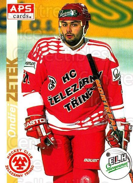 1996-97 Czech APS Extraliga #59 Ondrej Zetek<br/>2 In Stock - $2.00 each - <a href=https://centericecollectibles.foxycart.com/cart?name=1996-97%20Czech%20APS%20Extraliga%20%2359%20Ondrej%20Zetek...&quantity_max=2&price=$2.00&code=608251 class=foxycart> Buy it now! </a>