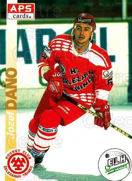 1996-97 Czech APS Extraliga #68 Jozef Dano<br/>1 In Stock - $2.00 each - <a href=https://centericecollectibles.foxycart.com/cart?name=1996-97%20Czech%20APS%20Extraliga%20%2368%20Jozef%20Dano...&quantity_max=1&price=$2.00&code=608260 class=foxycart> Buy it now! </a>