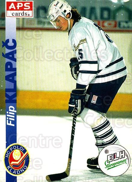 1996-97 Czech APS Extraliga #95 Filip Klapac<br/>1 In Stock - $2.00 each - <a href=https://centericecollectibles.foxycart.com/cart?name=1996-97%20Czech%20APS%20Extraliga%20%2395%20Filip%20Klapac...&quantity_max=1&price=$2.00&code=608287 class=foxycart> Buy it now! </a>