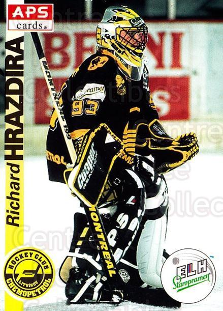 1996-97 Czech APS Extraliga #168 Richard Hrazdira<br/>1 In Stock - $2.00 each - <a href=https://centericecollectibles.foxycart.com/cart?name=1996-97%20Czech%20APS%20Extraliga%20%23168%20Richard%20Hrazdir...&quantity_max=1&price=$2.00&code=608360 class=foxycart> Buy it now! </a>