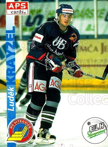 1996-97 Czech APS Extraliga #205 Ludek Krayzel<br/>1 In Stock - $2.00 each - <a href=https://centericecollectibles.foxycart.com/cart?name=1996-97%20Czech%20APS%20Extraliga%20%23205%20Ludek%20Krayzel...&quantity_max=1&price=$2.00&code=608397 class=foxycart> Buy it now! </a>