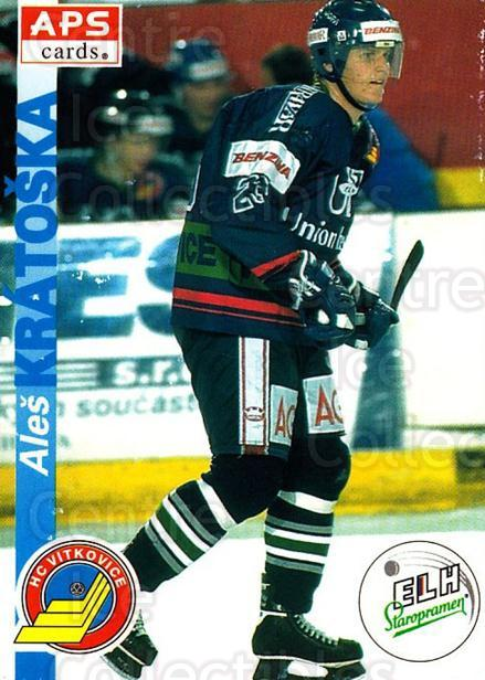 1996-97 Czech APS Extraliga #208 Ales Kratoska<br/>1 In Stock - $2.00 each - <a href=https://centericecollectibles.foxycart.com/cart?name=1996-97%20Czech%20APS%20Extraliga%20%23208%20Ales%20Kratoska...&quantity_max=1&price=$2.00&code=608400 class=foxycart> Buy it now! </a>