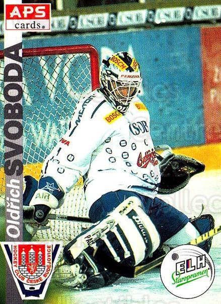 1996-97 Czech APS Extraliga #239 Oldrich Svoboda<br/>1 In Stock - $2.00 each - <a href=https://centericecollectibles.foxycart.com/cart?name=1996-97%20Czech%20APS%20Extraliga%20%23239%20Oldrich%20Svoboda...&quantity_max=1&price=$2.00&code=608431 class=foxycart> Buy it now! </a>